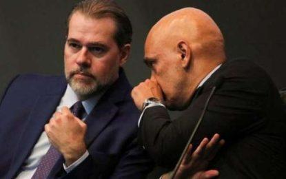 Senadores pedem saída de Toffoli e Moraes