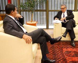 Tentando cargo no governo, Flávio Nogueira se encontra com Mourão