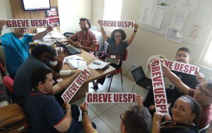 Professores da Uespi se recusam a receber migalhas e decidem manter greve