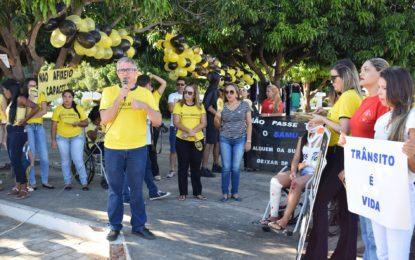 Prefeitura realiza ações educativas da campanha 'Maio Amarelo' em Guadalupe