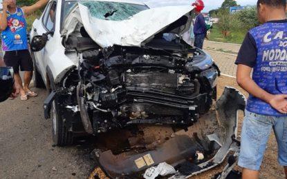 Casal morre em grave acidente na BR-230 em Oeiras