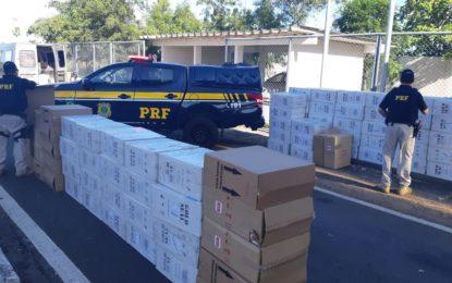 PRF apreende 58 mil maços de cigarros contrabandeados no Piauí