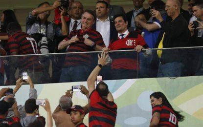 Em Brasília, Bolsonaro vai com Moro a estádio em jogo do Flamengo