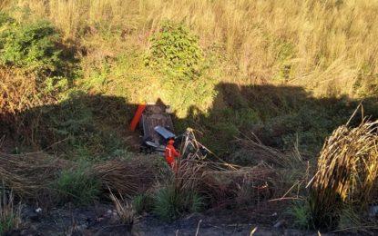 Motorista morre ao cair em ribanceira de cerca de 15 metros em Teresina