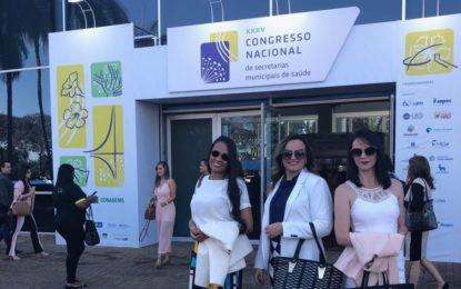 Secretária de Saúde de Marcos Parente participou do 35º Congresso Nacional de Secretários Municipais de Saúde