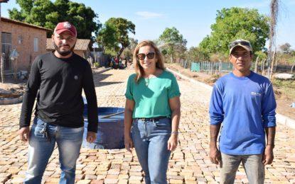 Neidinha visita obra no bairro Bela Vista que será entregue na semana do aniversário de Guadalupe