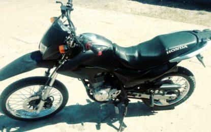 Moto roubada é recuperada pela Força Tática de Guadalupe