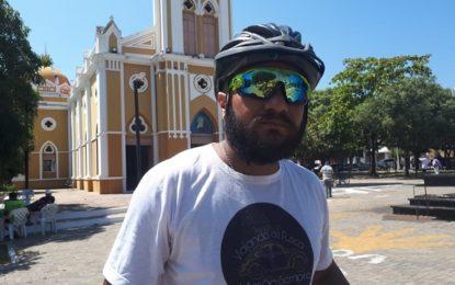 Ciclista Peninha faz viagem de Teresina até a Argentina num percurso de 4.876 kms