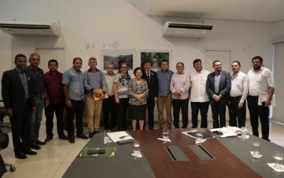 Wellington recebe prefeitos e trata de obras para vários municípios do Piauí