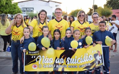 Prefeitura de Guadalupe realiza caminhada na campanha do Setembro Amarelo