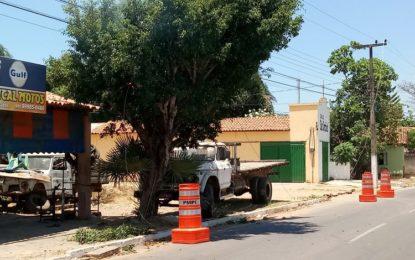 PERIGO: Fio de alta tensão se rompe na principal avenida de Guadalupe