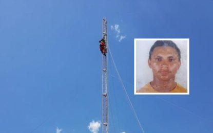 Homem que morreu eletrocutado na torre de internet em Floriano tinha 37 anos e era de Rio Grande do Piauí