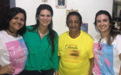 Prefeita de Jerumenha visita as pessoas que farão cirurgia durante o mutirão de catarata em Floriano