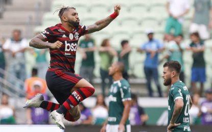 Flamengo vence o Palmeiras por 3 a 1 com dois de Gabigol; assista