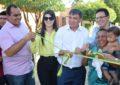 Ao lado do governador e várias autoridades Aldara Pinto inaugura ruas pavimentadas em Jerumenha