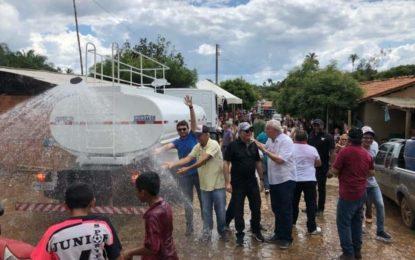 Oposição de São João dos Patos mostra força, prestígio e garante um Caminhão Pipa para a Região dos Noletos