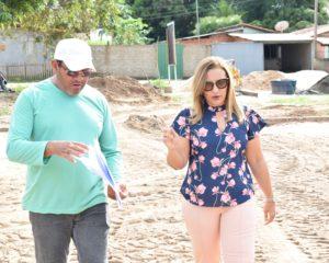 Prefeita de Guadalupe acompanha o andamento de diversas obras no município