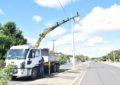 Prefeitura de Guadalupe recupera iluminação pública da Avenida Manoel Ribeiro.