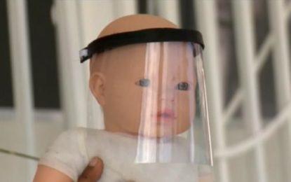 """Professor desenvolve máscara tipo """"face shield"""" para bebês recém-nascidos em Floriano"""
