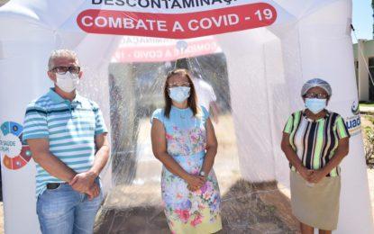 Prefeitura de Guadalupe instala túnel de descontaminação contra a covid-19 no hospital Pedrina Silveira