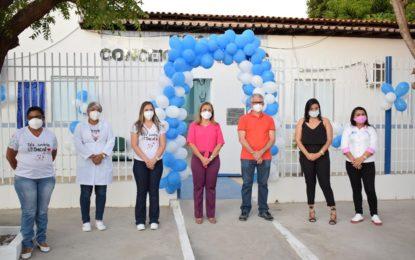 Prefeita e secretário de saúde de Guadalupe entregam reforma da UBS do bairro Bela Vista