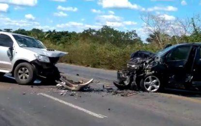 BR-343: idoso fica ferido após passar mal e provocar acidente em Teresina
