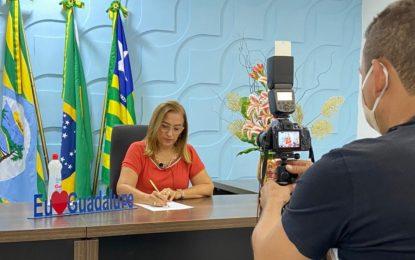 Prefeita Neidinha fala das ações adotadas pelo município desde o início da pandemia.