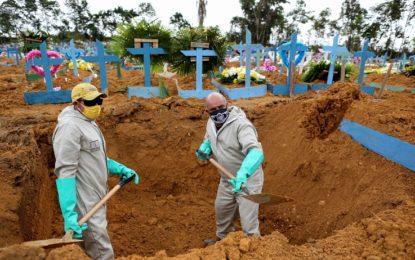 Covid-19: Brasil registra 1.254 mortes em 24h