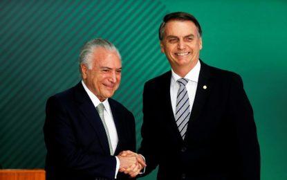 Michel Temer aceita convite de Bolsonaro para ser enviado ao Líbano