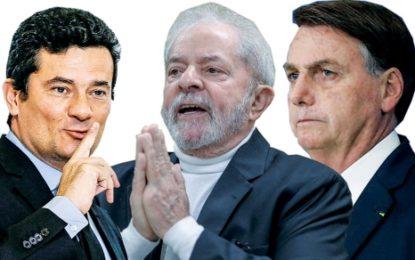 Bolsonaro empataria com Lula e Moro no 2º turno, mostra pesquisa