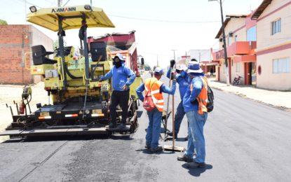 Guadalupe ganha mais pavimentação asfáltica na sua zona urbana
