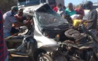 Colisão na BR-153 deixa ex-vereador de cidade do Piauí ferido